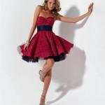 kırmızı Kısa Nişan Elbiseleri