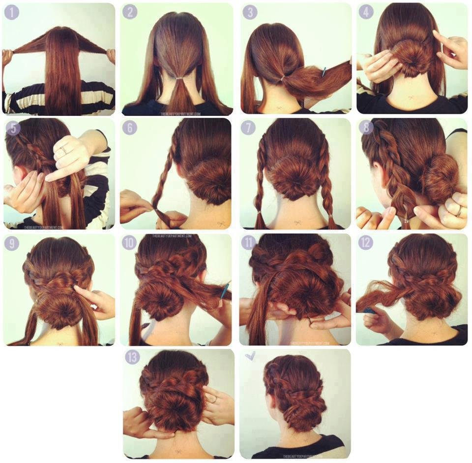 Причёски для средних волос в домашних условиях пошаговое фото 876