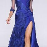 saks mavısı Zarif Abiye Modelleri